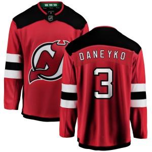 Ken Daneyko New Jersey Devils Youth Fanatics Branded Red New Jersey Home Breakaway Jersey