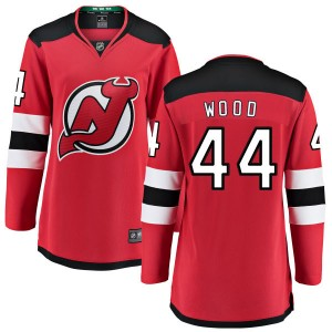 Miles Wood New Jersey Devils Women's Fanatics Branded Red Home Breakaway Jersey