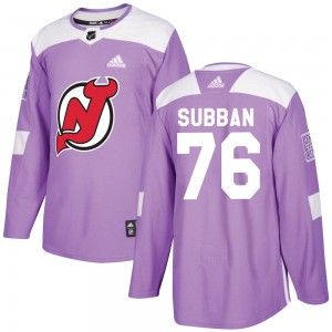 P.K. Subban New Jersey Devils Youth Adidas Authentic Purple Fights Cancer Practice Jersey