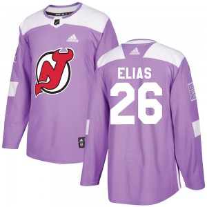Patrik Elias New Jersey Devils Men's Adidas Authentic Purple Fights Cancer Practice Jersey