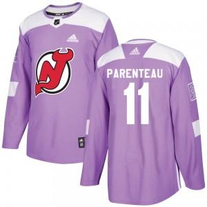 P. A. Parenteau New Jersey Devils Men's Adidas Authentic Purple Fights Cancer Practice Jersey