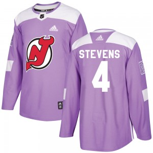 Scott Stevens New Jersey Devils Men's Adidas Authentic Purple Fights Cancer Practice Jersey