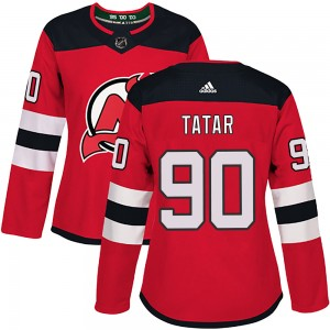 Tomas Tatar New Jersey Devils Women's Adidas Authentic Red Home Jersey