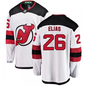 Patrik Elias New Jersey Devils Men's Fanatics Branded White Breakaway Away Jersey