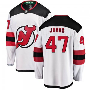 Christian Jaros New Jersey Devils Men's Fanatics Branded White Breakaway Away Jersey
