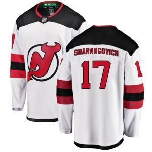 Yegor Sharangovich New Jersey Devils Men's Fanatics Branded White Breakaway Away Jersey