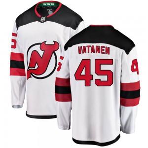 Sami Vatanen New Jersey Devils Men's Fanatics Branded White Breakaway Away Jersey