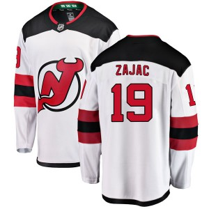 Travis Zajac New Jersey Devils Men's Fanatics Branded White Breakaway Away Jersey