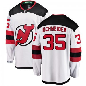 Cory Schneider New Jersey Devils Youth Fanatics Branded White Breakaway Away Jersey