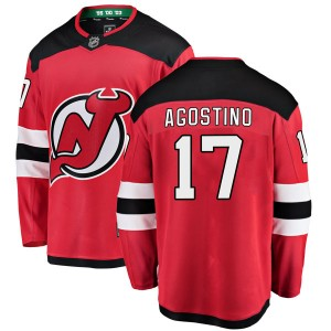 Kenny Agostino New Jersey Devils Youth Fanatics Branded Red Breakaway Home Jersey