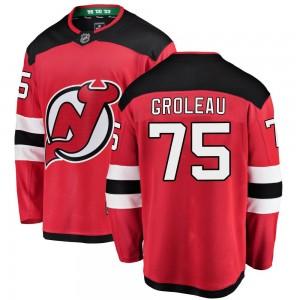 Jeremy Groleau New Jersey Devils Youth Fanatics Branded Red Breakaway Home Jersey
