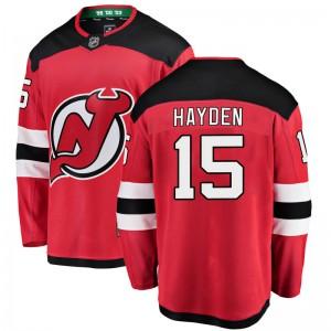 John Hayden New Jersey Devils Youth Fanatics Branded Red Breakaway Home Jersey