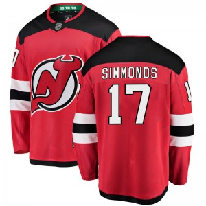 Wayne Simmonds New Jersey Devils Youth Fanatics Branded Red Breakaway Home Jersey