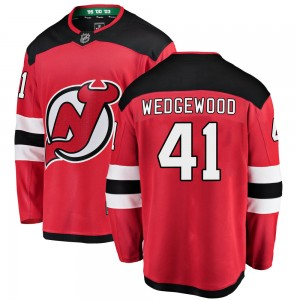 Scott Wedgewood New Jersey Devils Youth Fanatics Branded Red Breakaway Home Jersey