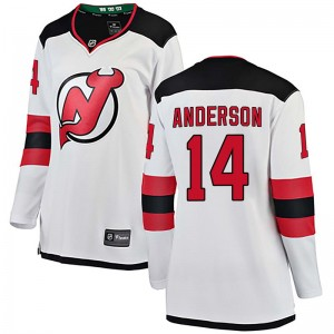 Joey Anderson New Jersey Devils Women's Fanatics Branded White Breakaway Away Jersey
