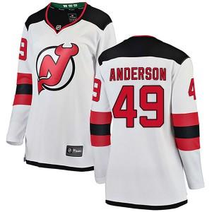 Joey Anderson New Jersey Devils Women's Fanatics Branded White Breakaway Away Jersey