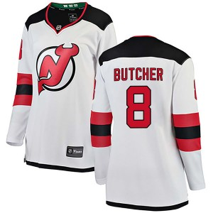 Will Butcher New Jersey Devils Women's Fanatics Branded White Breakaway Away Jersey