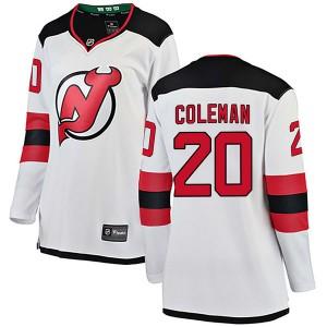 Blake Coleman New Jersey Devils Women's Fanatics Branded White Breakaway Away Jersey