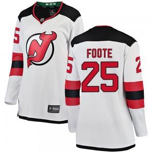 Nolan Foote New Jersey Devils Women's Fanatics Branded White Breakaway Away Jersey