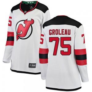 Jeremy Groleau New Jersey Devils Women's Fanatics Branded White Breakaway Away Jersey