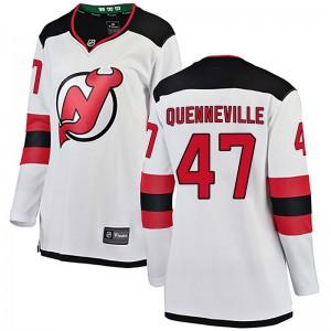 John Quenneville New Jersey Devils Women's Fanatics Branded White Breakaway Away Jersey