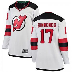 Wayne Simmonds New Jersey Devils Women's Fanatics Branded White Breakaway Away Jersey