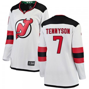 Matt Tennyson New Jersey Devils Women's Fanatics Branded White ized Breakaway Away Jersey