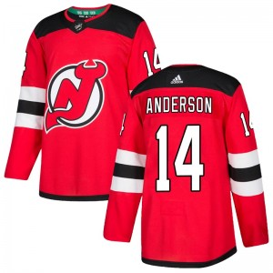 Joey Anderson New Jersey Devils Youth Adidas Authentic Red Home Jersey