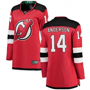 Joey Anderson New Jersey Devils Women's Fanatics Branded Red Breakaway Home Jersey