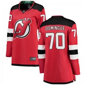 Louis Domingue New Jersey Devils Women's Fanatics Branded Red Breakaway Home Jersey