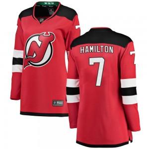 Dougie Hamilton New Jersey Devils Women's Fanatics Branded Red Breakaway Home Jersey