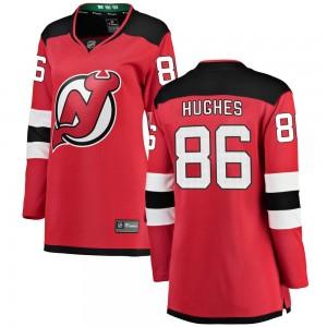Jack Hughes New Jersey Devils Women's Fanatics Branded Red Breakaway Home Jersey