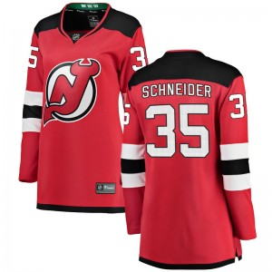 Cory Schneider New Jersey Devils Women's Fanatics Branded Red Breakaway Home Jersey