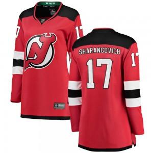 Yegor Sharangovich New Jersey Devils Women's Fanatics Branded Red Breakaway Home Jersey