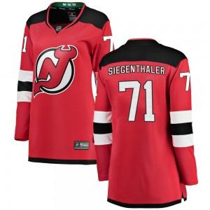 Jonas Siegenthaler New Jersey Devils Women's Fanatics Branded Red Breakaway Home Jersey