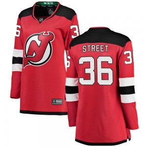 Ben Street New Jersey Devils Women's Fanatics Branded Red Breakaway Home Jersey