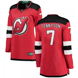 Matt Tennyson New Jersey Devils Women's Fanatics Branded Red ized Breakaway Home Jersey