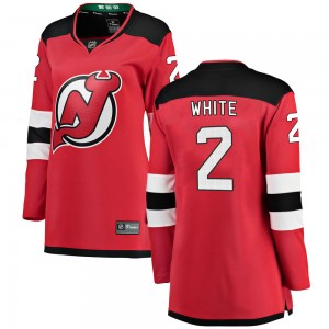 Colton White New Jersey Devils Women's Fanatics Branded White Breakaway Red Home Jersey
