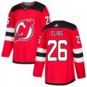 Patrik Elias New Jersey Devils Men's Adidas Authentic Red Home Jersey