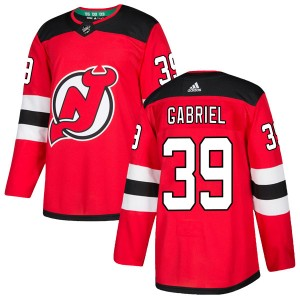 Kurtis Gabriel New Jersey Devils Men's Adidas Authentic Red Home Jersey