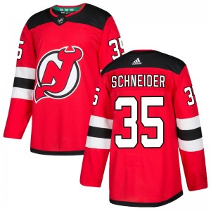Cory Schneider New Jersey Devils Men's Adidas Authentic Red Home Jersey