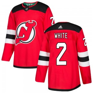 Colton White New Jersey Devils Men's Adidas Authentic White Red Home Jersey