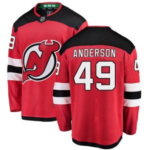 Joey Anderson New Jersey Devils Men's Fanatics Branded Red Breakaway Home Jersey