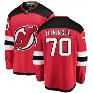 Louis Domingue New Jersey Devils Men's Fanatics Branded Red Breakaway Home Jersey