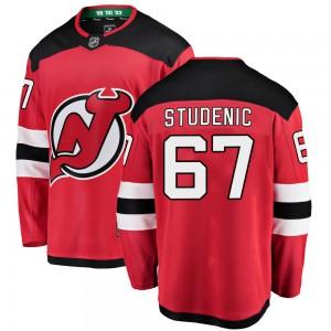 Marian Studenic New Jersey Devils Men's Fanatics Branded Red Breakaway Home Jersey