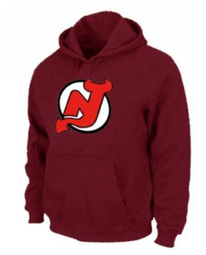 New Jersey Devils Men's Red Pullover Hoodie