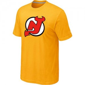 New Jersey Devils Men's Orange Big & Tall Logo T-Shirt