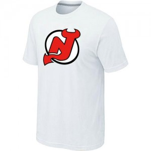 New Jersey Devils Men's White Big & Tall Logo T-Shirt