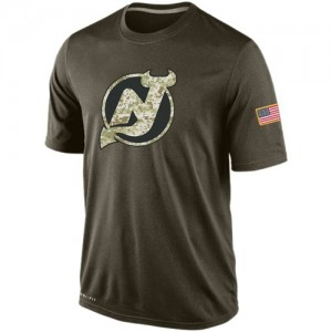 New Jersey Devils Men's Nike Olive Salute To Service KO Performance Dri-FIT T-Shirt