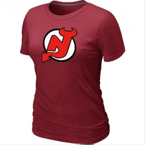 New Jersey Devils Women's Red Big & Tall Logo T-Shirt